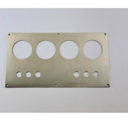 Switch panel 1976-6/97 in polished stainless steel (for toggle not rocker...