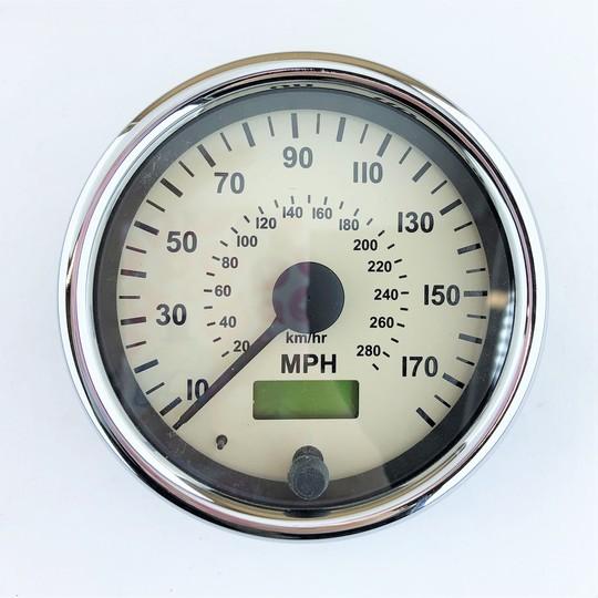 Mph speedo for 4/4 and +4 5/2006 on, chrome bezel