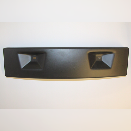 Front number plate panel for overrider only cars