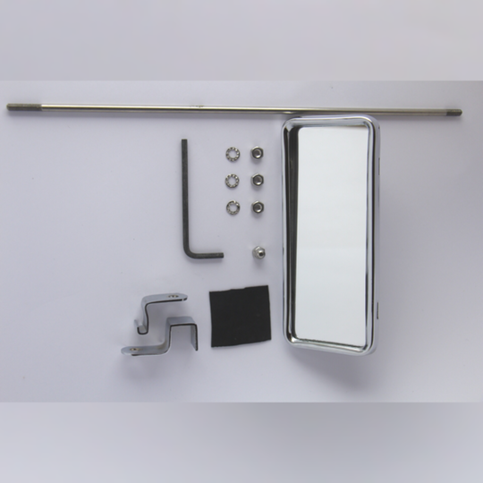 Interior mirror 4str to 2/2003 and 2str 6/1999-2/2003 - rod mounted (chrome...