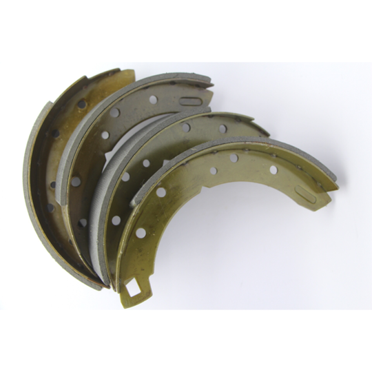 """Brake shoes rear axle set 1 3/4"""" wide (asbestos free), for +4 1958 to 7/1993,..."""