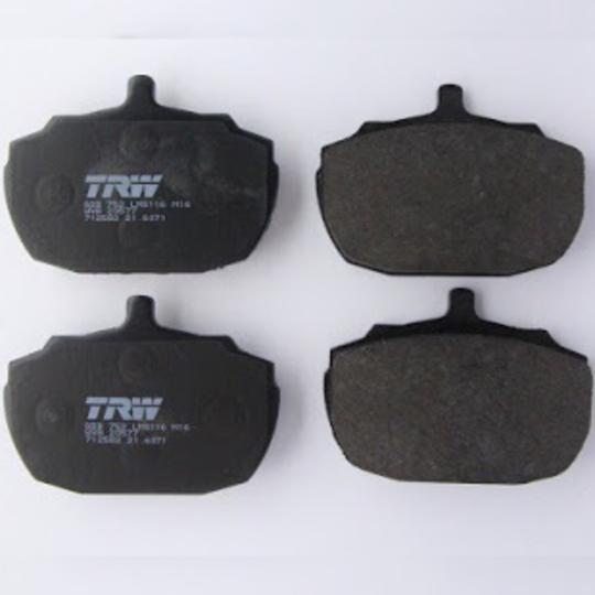 Brake pads axle set 4/4 1800 7/1993 on, +4 7/1993 on, & +8 7/1993 on