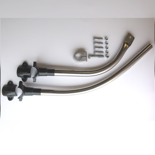 Front bumper tube assembly in stainless steel for +4 1993 on with wide...