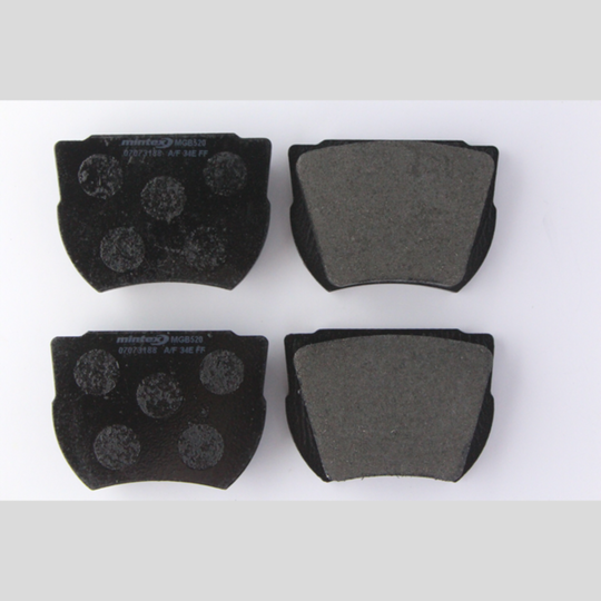 Brake pads axle set 4/4 & +4 1959-66 (disc pads)