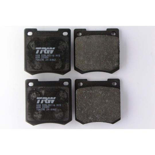 Brake pads axle set 4/4 1966 to 7/1993 & +4 1966 to 7/1993