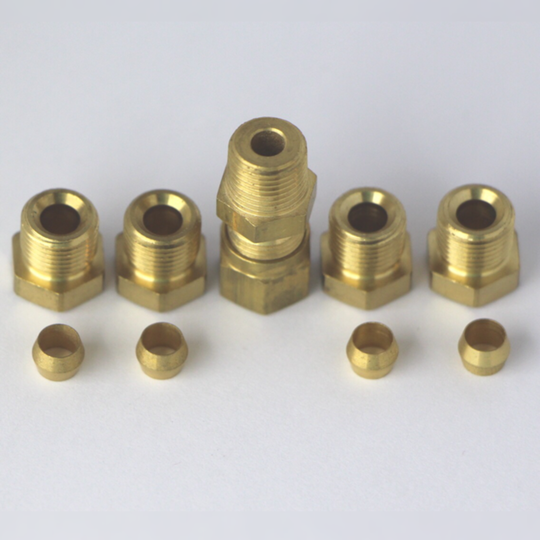 1-shot pipe fittings kit (5 olives; 5 nuts & 1 union)