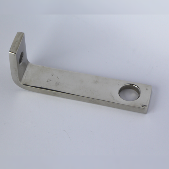 Bracket for front of silencer +4 pre 1968 - polished stainless steel