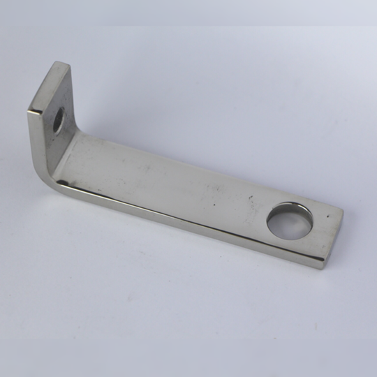 Bracket for rear of silencer +4 pre 1968 - polished stainless steel