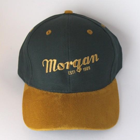 Morgan baseball cap - green tan suede