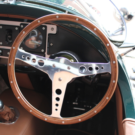 "Moto-Lita 14"" wood rim steering wheel"