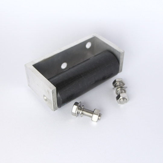 Steering chassis roller stop lh (with bracket)