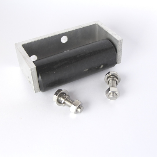 Steering chassis roller stop rh (with bracket)