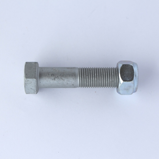Bolt and nut for inner end of track rod on +8 rack