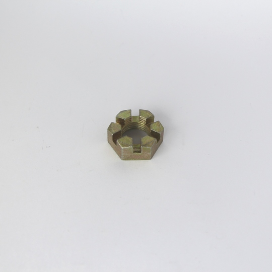Stub axle castellated nut 4/4 & +4 (front)