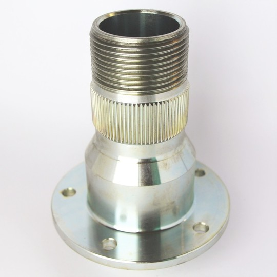 Front splined hub only left hand +4 & 4/4 to 4/1991 (no seals or bearings)