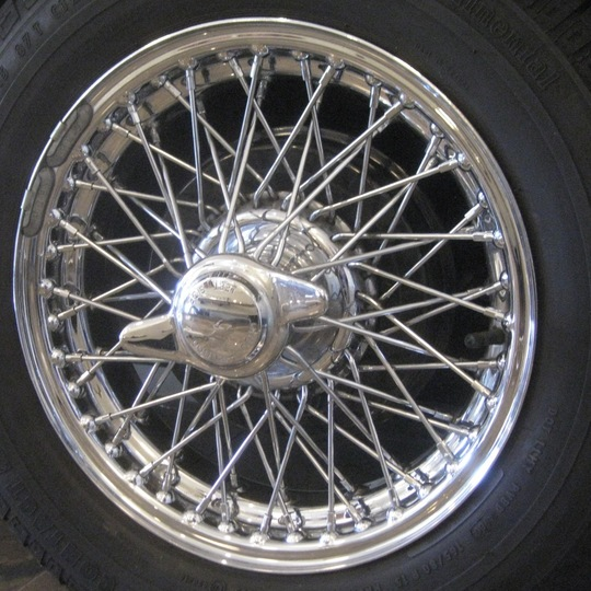 Wire wheel - chrome 4/4 +4 pre 1968 60s new