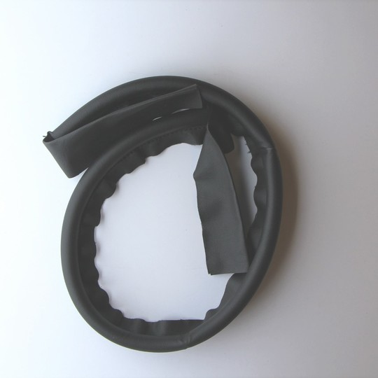 Door draught excluder - black vinyl