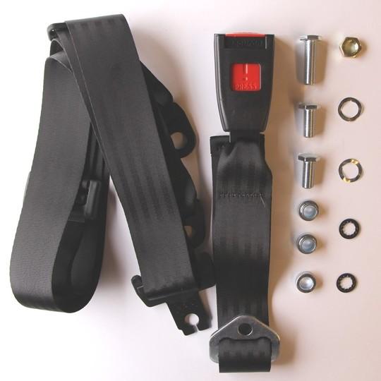 One seat belt kit (static) rear 4str - lap & diagonal