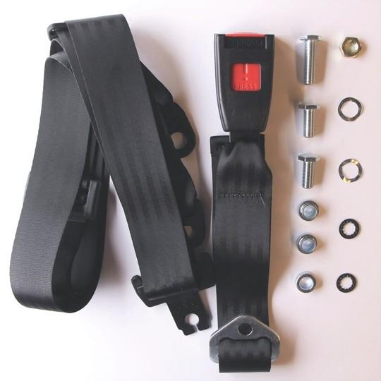 One seat belt kit (static) rear 4 seater - lap & diagonal