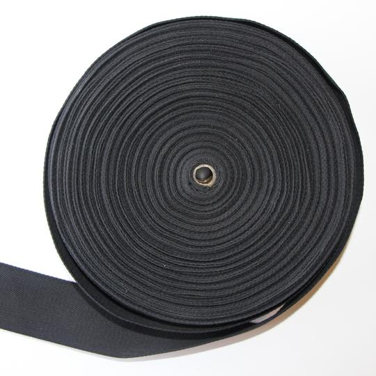 """Hood frame webbing 2"""" black (2.2m/7ft per car set"""