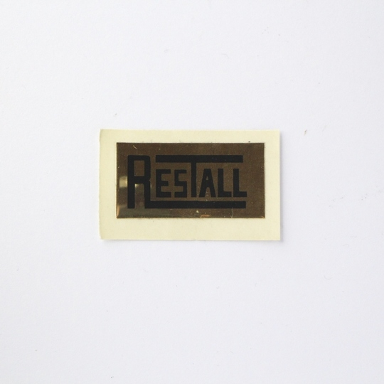 'Restall' seat frame label for 1970's and 1980's cars