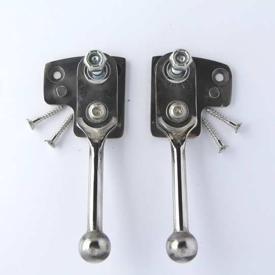 Hood frame swivel pivots (stainless steel) for all 2str cars 1960 on