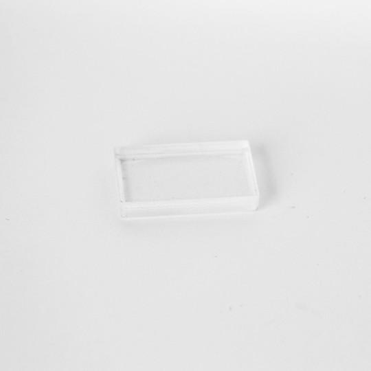 Perspex block for sidescreen perspex