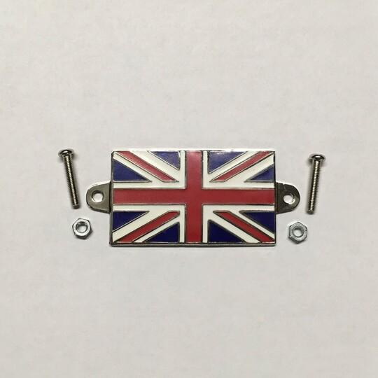 Enamel union jack flag - size 50mm x 30mm