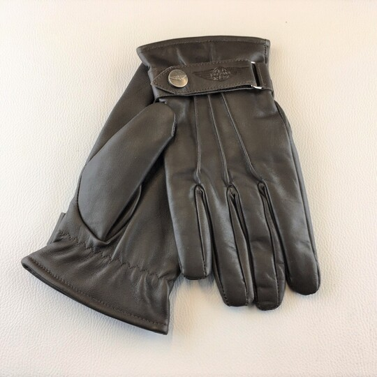 Morgan thinsulate leather driving gloves - brown size 9.0