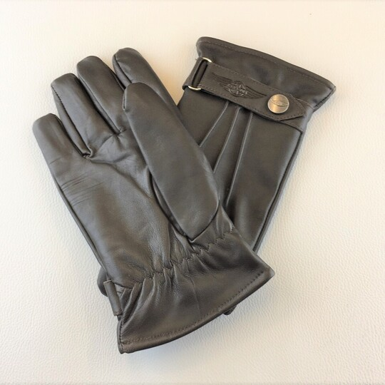 Morgan thinsulate leather driving gloves - brown size 9.5