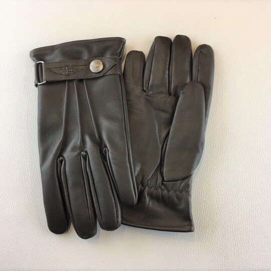 Morgan thinsulate leather driving gloves - brown size 10.0