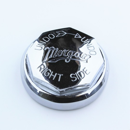 Continental hub nut right - engraved 'Morgan'