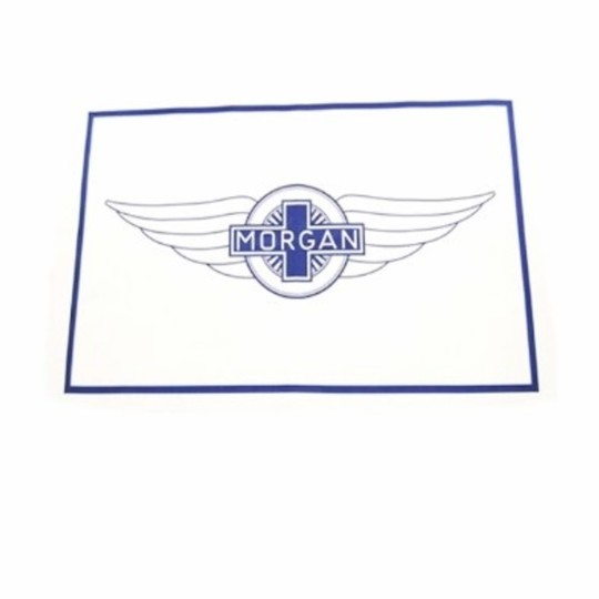 Tea towel - large Morgan wings, blue print