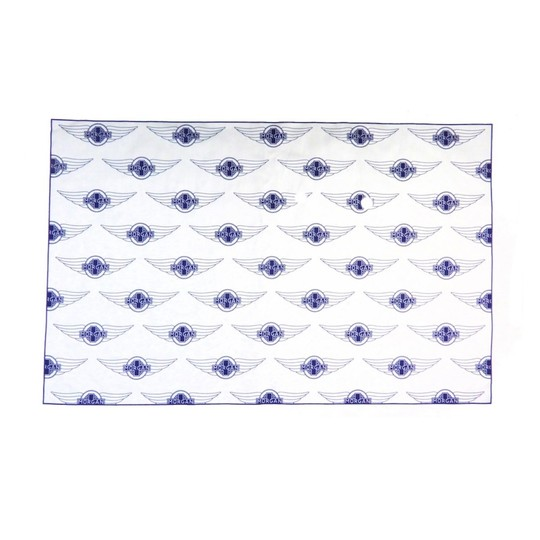 Tea towel - repeat Morgan wings, blue print