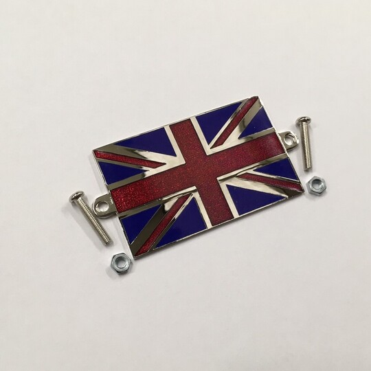 Enamel Union Jack flag - size 59mm x 36mm